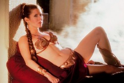 Carrie Fisher - Bikini Photoshoot For Return of the Jedi