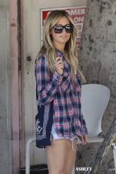 Ashley Tisdale - Leaving Nine Zero One Salon in West Hollywood 5/30/14