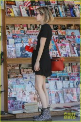 Emma Roberts - Buying magazines in LA 5/31/14