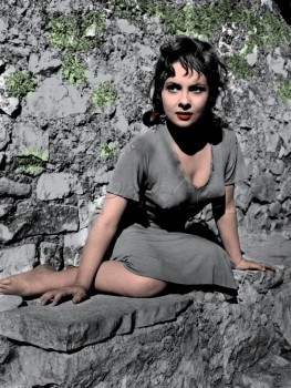 Gina Lollobrigida - B/W Pics - Colored by me - x 6