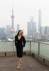 Angelina Jolie - Photograph session for Maleficent in Shanghai, China on June 3, 2014