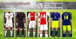 PES 2014 Ajax 14-15 Kit Set by S-Ràw