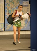 Annasophia Robb - On the Subway in NYC 6/04/14