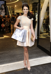 Danielle Lloyd looking classy @  the opening of Harvey Nichols new store 'Beauty Bazaar'11/7/12