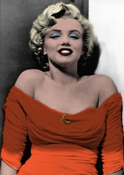 Marilyn Monroe - 8 Pictures - Colored by me:)