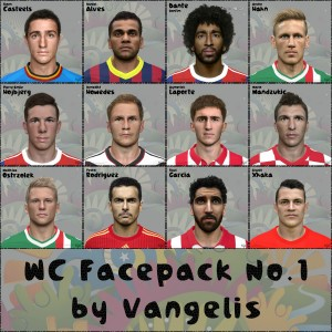 Dowload WC Facepack No.1 For PES 2014 by Vangelis
