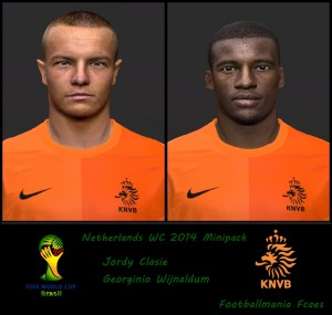 Netherlands Mini Facepack PES 2014 By Footballmania