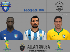 Download PES 2014 Facepack vol.4 by Allan Souza