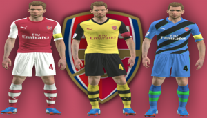PES 2014 GDB Kits Arsenal by Salichinko 14 - 15 Download