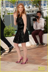 Jessica Chastain at 'Eleanor Rigby' Photo Call and later being cute yet sexy on the beach at 2014 Cannes Film Festival  5/18/14
