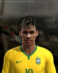 Download PES 2013 Face and New Hair Neymar v1