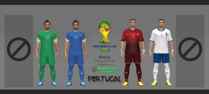Download Portugal WC 2014 Kits by Wuguernalt