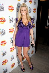 Nicola McLean nice cleavage attends the 'Do Us A Flavour' Walkers launch party at Paramount 1/8/09