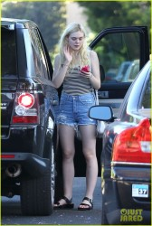 Elle Fanning - Going to a surprise party in Hollywood 7/1/14