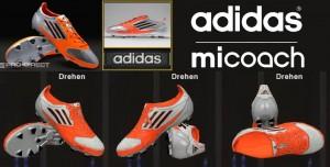 Download Adidas F50 adizero micoach - Silver / Infrared