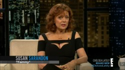 SUSAN SARANDON *cleavage* - Chelsea Lately 7.3.2014