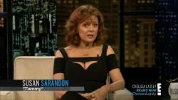 SUSAN SARANDON *cleavage* - Chelsea Lately 7.3.2014