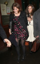 Princess Beatrice and Princess Eugenie in pantyhose at the English National Ballet 12/17/09