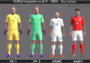 Download England KitSet FIFA WC 2014 Pes 2013 by Lukas