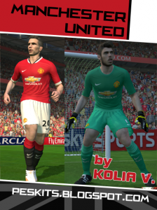 online retailer 6a0a9 cc709 PES 2014 Manchester United 14-15 Kits by Kolia V - PES Patch
