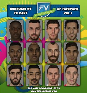 World Cup Facepack for FIFA 14 vol.1 by FV.Bart