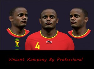 Download Vincent Kompany Face by Professional