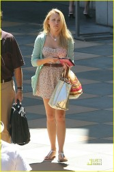 Emily Osment leggy when out to eat at The Cheesecake Factory 9/3/10