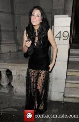Sam Woolley nice cleavage and legs leaving the Aura nightclub 1/11/12