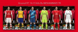 Download Arsenal 14.15 kits in GDB By MOHAMMAD 78