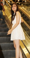 Alia Bhatt cute in short white lace dress at the Forever 21 Store Launch in Mumbai 5/31/13
