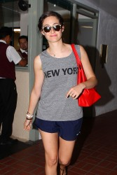 Emmy Rossum Going To Her Car in Beverly Hills 07-16-2014