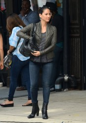 Olivia Munn On the set of The Newsroom in New York 07-20-2014 (not HQ)