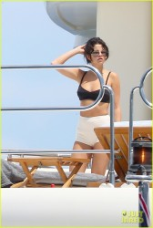 Selena Gomez wearing a Bikini on a boat in St. Tropez 7/22/14
