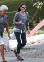 Jessica Biel hiking in Mont-Royal, Montreal 07-23-2014