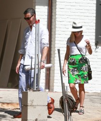 Reese Witherspoon at her New House in Brentwood 07-25-2014 (not HQ)