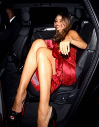 Sofia Vergara looking sexy in a red dress at the Arts Club in London 5/29/12