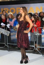 Sofia Vergara sexy in pantyhose attending the European premiere pre party of Happy Feet Two 11/19/11