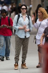 Laura Prepon Out and about in NYC 07-29-2014