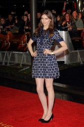 "Sophie Ellis Bextor in short polka dot dress attends the UK Premiere of ""The Hunger Games: Catching Fire"" at Odeon Leicester Square 11/10/13"