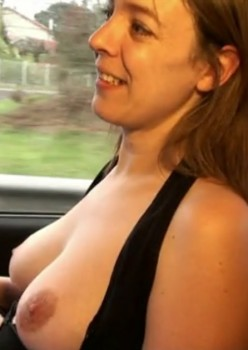 French Amateur Wife Stephanie Fucked in Public Cover