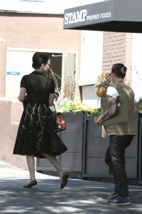 18007b342187531 Dita Von Teese grabs breakfast at Stamp restaurant (July 30, 2014) candids