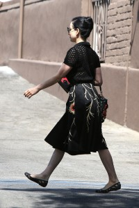 6bd2ec342187466 Dita Von Teese grabs breakfast at Stamp restaurant (July 30, 2014) candids