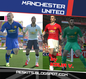 Download PES 2014 Manchester United 14/15 Kits Update by Kolia V