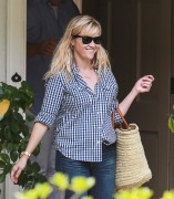 Reese Witherspoon leaving a friend's house in Bel AIr 07/27/14