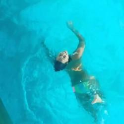 Demi Lovato Bikini Pool Video - August 4, 2014