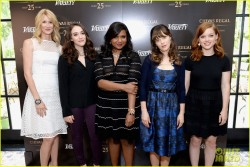 Jane Levy, Kat Dennings, Laura Dern, Mindy Kaling and Zooey Deschanel at the Variety Emmy Studio at Palihouse  5/29/13