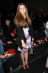 Bonnie Wright leggy at the Vivienne Westwood Red Label show during the current London Fashion Week 9/18/08