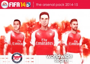 FIFA 14 The Arsenal Pack 2014-15 - WorldWideTeam