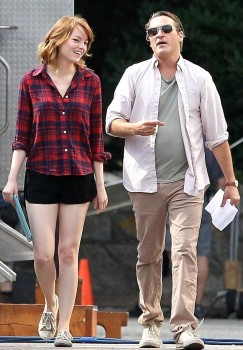 Emma Stone set pics from the next Woody Allen movie.