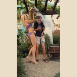 Peyton Roi List - wearing a Bikini 8/15/14
